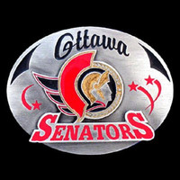 Ottawa Senators NHL Enameled Belt Buckle