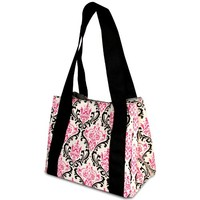 Fit & Fresh Venice Insulated Designer Lunch Bag with Ice Pack, Pink & Black Chandelier