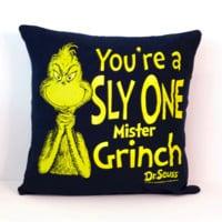 Grinch Pillow