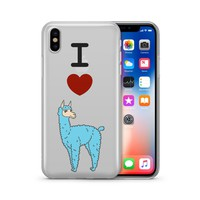 I Love Llamas - Clear TPU Case Cover