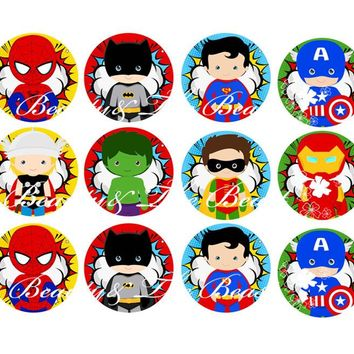 The Avengers Stickers, Superhero Cupcake Toppers,Birthday Party Decorations kids Sticker Label for Birthday,Baby Shower