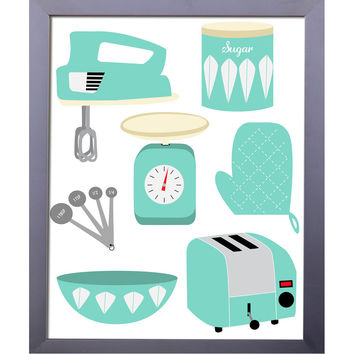 Retro Kitchen Essentials | Printable