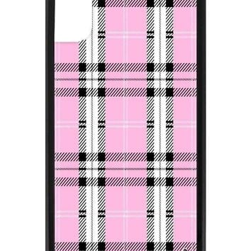 Pink Plaid iPhone X/Xs Case