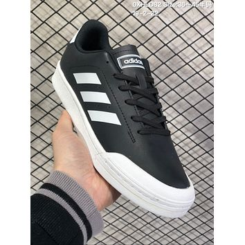 HCXX A573 Adidas Court 70s Fashion Baitao Personality Campus Board Shoes Black White