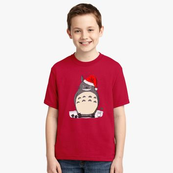 Totoro Christmas Santa Youth T-shirt | Customon.com