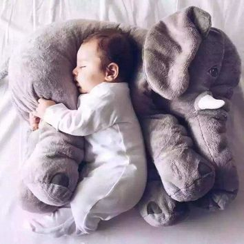 Plush Elephant Toy & Pillow for Kids & Babies