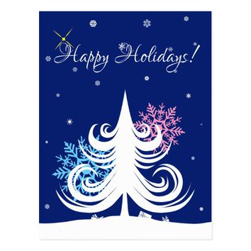 Happy Holidays and best wishes customizable Postcard