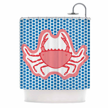 "MaJoBV ""Cangrejo"" Red Crab Shower Curtain"