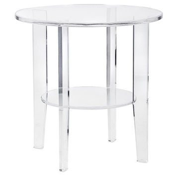 Avenue Clear Acrylic Round Accent Table