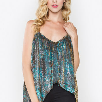 Lucinda Metallic Multi-Color Tank Top