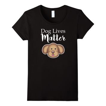 Dog Lives Matter Emoji Emoticon Funny Dog Owner Tee Shirt