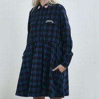 NWT LAZY OAF MISTAKES FLANNEL DRESS