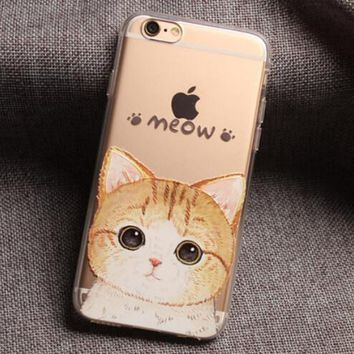 Meow Cat iPhone 7 7 Plus & iPhone 6 6s Plus & iPhone 5s se Case Personal Tailor Cover + Gift Box-474-170928