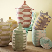 Graphic Lidded Baskets