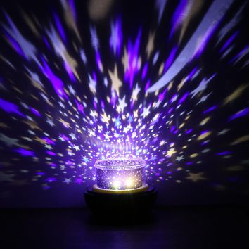 Novelty Earth/Universe LED USB Star Projector Lamp Table 3D Night Light with Ocean Birthday Adjust Brightness for Kids Children