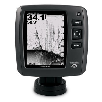 """Garmin Echo 201 DV 5"""" Fishfinder - Grayscale w/Downscan"""