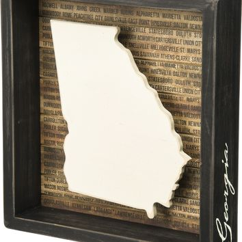 State Patriotic Pride Shadow Box Frame - Georgia