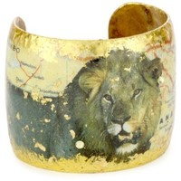 "ÉVOCATEUR ""Humphrey's Safari"" Botswana Lion Cuff Bracelet - designer shoes, handbags, jewelry, watches, and fashion accessories 