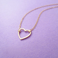 Love is an open door, Gold, Silver, Heart, Dainty, Cute, Jewelry, Heart, Necklace, Heart, Jewelry, Simple, Love, Necklace, Christmas, Gift