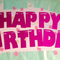 Glitter Banner - Happy Birthday, Photo Prop, Birthday Banner, First Birthday