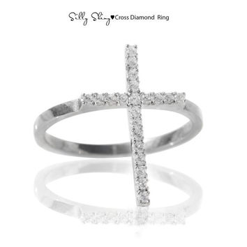 Cross Diamond Ring 14K gold