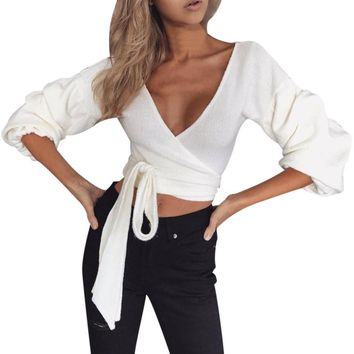 Fashion Puff Sleeve Blouse
