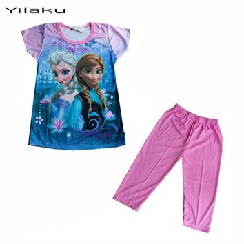 Girl's Frozen Pajamas Set