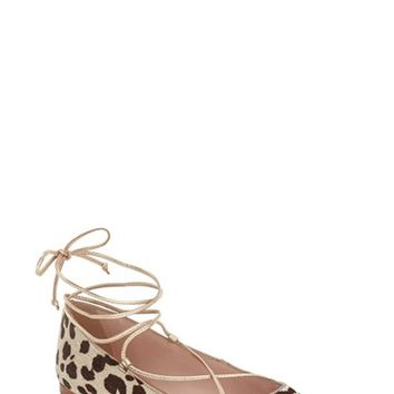 kate spade new york 'genie' pointy toe lace up flat (Women) | Nordstrom