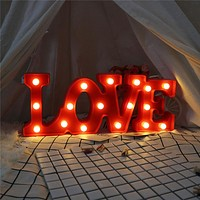 Valentines Day Wedding Gifts for Guests LOVE Sign Night Lights for Wedding Decoration Birthday Party Valentines Day Gift Decor