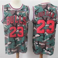 Michael Jordan Chicago Bulls Lakers Mitchell & Ness Camouflage Fashion Hardwood Classics Swingman Jersey - Best Deal Online