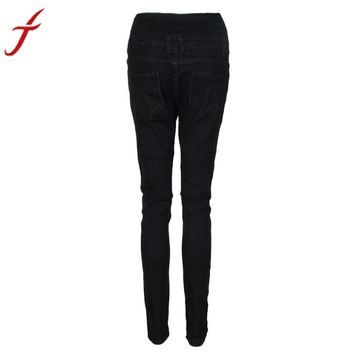 Fashion Women High Waist Skinny Legging Jeans