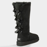 UGG Women Fashion Bow Wool Snow Boots In Tube Boots Shoes