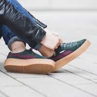 "x Rihanna Suede Creepers ""Green Bordeaux"""
