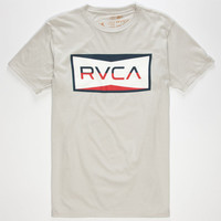 Rvca Reds Mens T-Shirt Cement  In Sizes