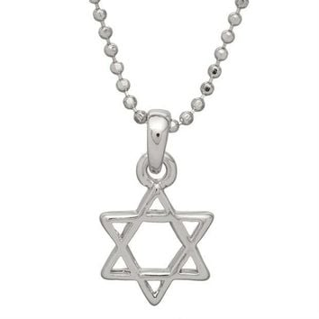 ICIKIS3 Small Star of David Necklace
