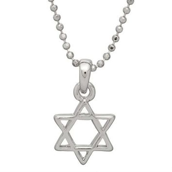 ICIK8UT Small Star of David Necklace