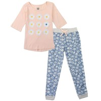 Toddler Girl's 2-Piece Daisy Flowers Short-Sleeve Shirt and Pants Outfit