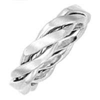 PLATINUM BRAIDED WEDDING BAND his and hers ring bridal