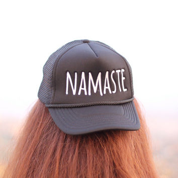 Namaste - Snap Back - Yoga Hat - Yoga Snap Back - Yoga - Yoga Clothes - Yoga Accessories - Yoga Clothing - Namaste Print - Namaste Hat