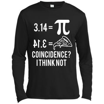 Funny Math Pun Pi Day 2019 Pi Equals Pie T-Shirt Long Sleeve Moisture Absorbing Shirt