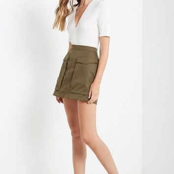 Style Recruit Cargo Mini Skirt