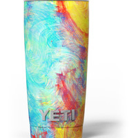 Vibrant Colored Messy Painted Canvas Yeti Rambler Skin Kit