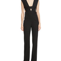 Narciso Rodriguez Sleeveless Cage-Top Virgin Wool Jumpsuit