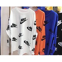 """NIKE"" Hot Sale Popular Women Casual Full Logo Print Long Sleeve Cotton Sweatshirt Top Sweater(4-Color) I13508-1"