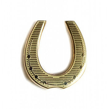 enamel horseshoe pin