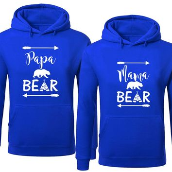 Bear Family Hoodie for Mama Bear & PAPA Bear Pullover Sweater- Royal Blue -Price for 1
