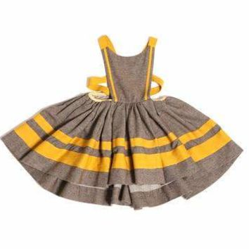 Tia Cibani Girls' Pecan Jalisco Apron Dress