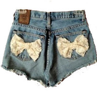 Customize High Waisted Bow Shorts