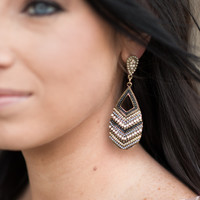 Bali Nights Earrings - Grey & White