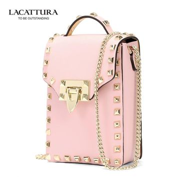 A1315 2017rivet evening bag women's banquet bag day clutch for iphone female candy color Small Cross Body Bags Cell Phone pink